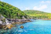 Ilha de Koh larn praia em pattaya Tailândia — Fotografia Stock