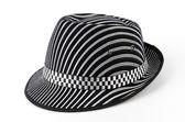 Vintage panama hat isolated white background — Stock Photo