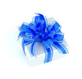 Gift box isolated white background — Photo