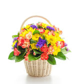 Flower basket — Stock Photo