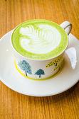 Chá verde com leite — Fotografia Stock