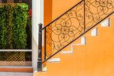 Staircase brick wall — Stockfoto