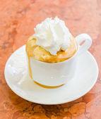 Coffee whipping cream — Stock Photo