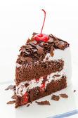 Cake chocolate isolated on white background — Stock Photo