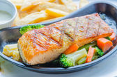 Salmon grilled — Stock Photo