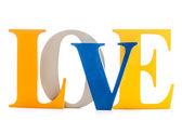 слово любовь — Стоковое фото