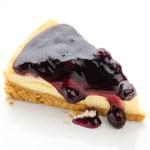 Blueberry cheesecake isolated white background — Stock Photo #46947225