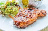 Grill pork steak — Stock Photo