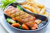 Salmon grilled — Stock Photo