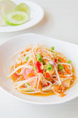 Green papaya salad — Stock Photo