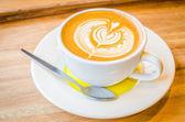 Latte art coffee — Stockfoto