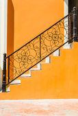 Staircase brick wall — Zdjęcie stockowe