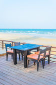 Dinner on the beach — 图库照片