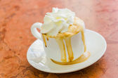 Coffee whipping cream — Stock Photo