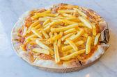 French fries Pizza — Stok fotoğraf