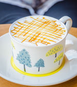 Karamell-kaffee — Stockfoto