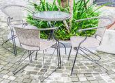 Tavolo e sedia — Foto Stock