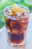 Cola lemon glass — Stock Photo