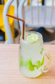 Mint lime soda — Stock Photo