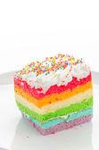 Rainbow cake — Stock Photo