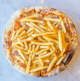 French fries Pizza — Stock Photo