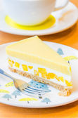 Mango cheesecake — Stockfoto