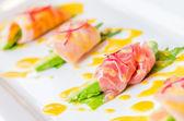 Sashimi avocado japanese food — Stock Photo