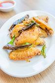 Ali di pollo fritto — Foto Stock