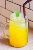 Iced Passion juice — Stock Photo