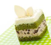 Matcha green tea cake — Stock Photo