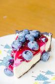 Cheesecake ai mirtilli — Foto Stock