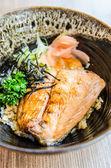 Pirinç somon teriyaki — Stok fotoğraf