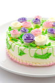Flower cakes — Stock Photo