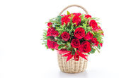 Rose basket — Stock Photo