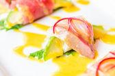 Sashimi avocado — Stock Photo