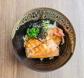 Salmon teriyaki — Stock Photo