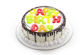Všechno nejlepší k narozeninám dort — Stock fotografie