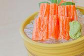 Sashimi de cangrejo de palo — Foto de Stock