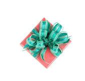 Fondo blanco de regalo caja aislada — Foto de Stock