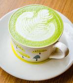 Green tea latte — Stock Photo