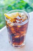 Glas Cola Zitrone — Stockfoto