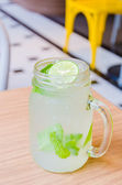 Mint lime soda — Stock Photo