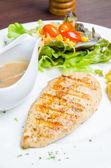 Grilled chicken breast — Zdjęcie stockowe