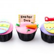 Easter cupcakes isolated white background — Stock Photo #49825213