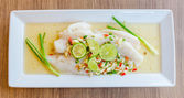 Steamed basa fish — Foto Stock