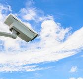 Cctv na modré obloze — Stock fotografie