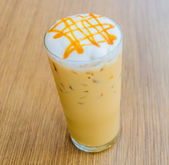 Iced caramel coffee — Stock Photo