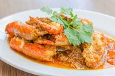 Fried shrimp garlic — Stok fotoğraf