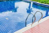 Pool staircase — Stock Photo
