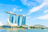 The Marina Bay Sands Resort Hotel in Singapore — Fotografia Stock